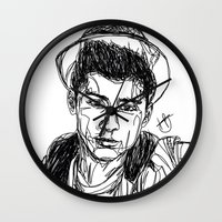 zayn Wall Clocks featuring Zayn Malik by Hollie B