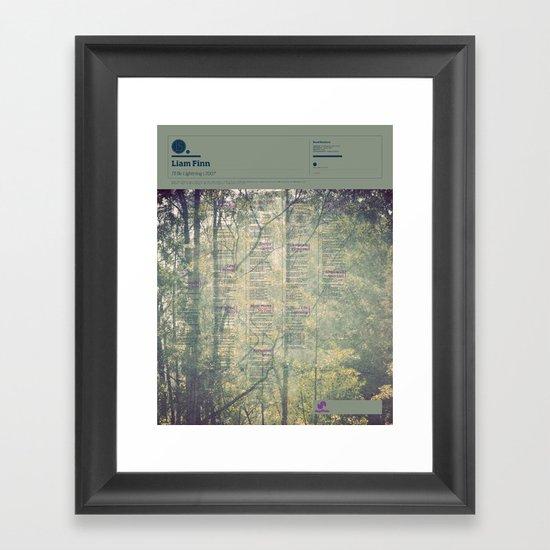 The Visual Mixtape 2010 | I'll Be Lightning | 15 / 25 Framed Art Print