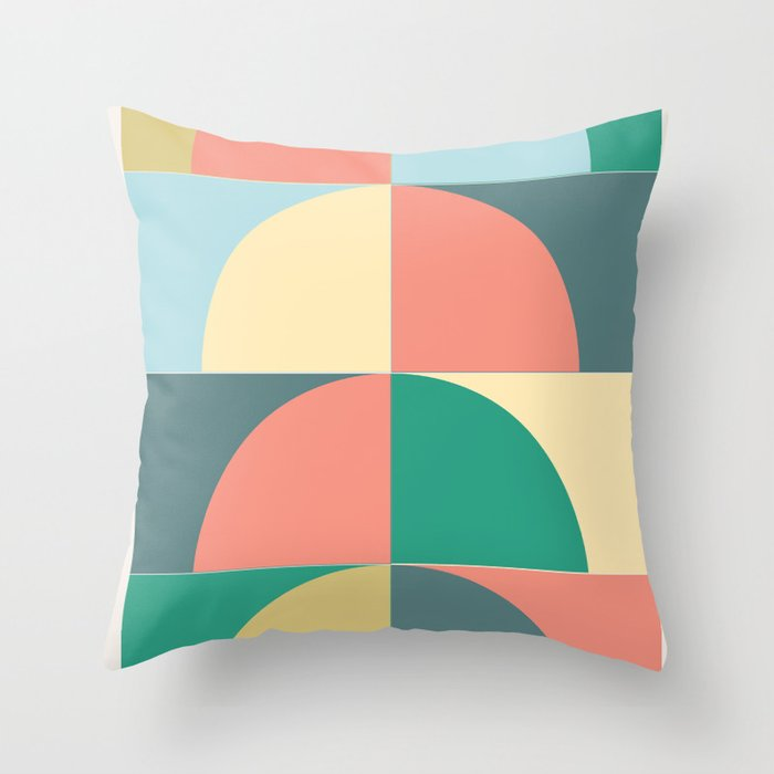 Half Circles Throw Pillow