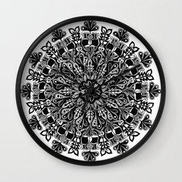 Mandala: Skeleton Leaves Wall Clock