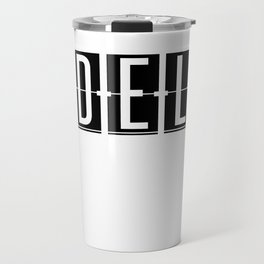 DEL - Delhi - India Airport - Airport Code Souvenir or Gift Design  Travel Mug