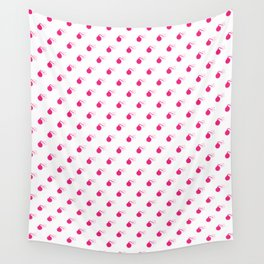 HOT PINK BOMB DIGGITYS ALL OVER LARGE Wall Tapestry