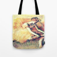 ballerina Tote Bags featuring BallerinA by PureVintageLove