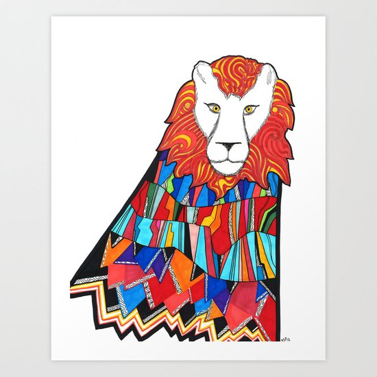 Lion Tamed Art Print