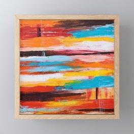 Orange Abstract Framed Mini Art Print