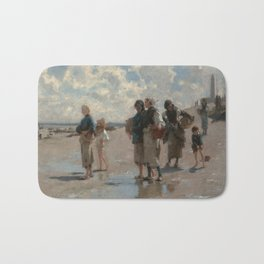 Fishing for Oysters at Cancale - John Sargent Bath Mat