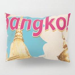 Bangkok Vintage Travel Poster Pillow Sham