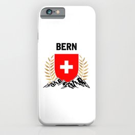 Bern Swiss Flag TShirt Swiss Alps Shirt Switzerland Gift Idea  iPhone Case