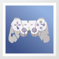 gamer Art Prints featuring Gamer by pokegirl93