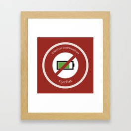 No E-Bike No Battery Framed Art Print