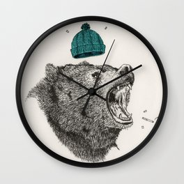 bear and cigaret  Wall Clock