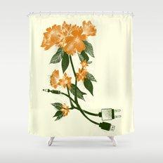 Digital Spring Shower Curtain
