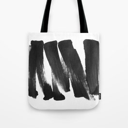 Black Brushstrokes Abstract Ink Painting - Horizontal Tote Bag