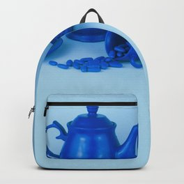 Blue tea party madness - still life Backpack