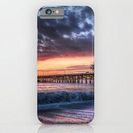 California USA Nature Sky Waves sunrise and sunset Coast Marinas Sunrises and sunsets Pier Berth iPhone Case