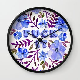 F*ck It – Blueberry Palette Wall Clock