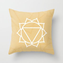 Manipura Solar Plexus Chakra Throw Pillow