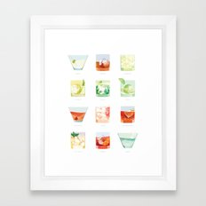 Cocktail Hour: Classic Cocktails Poster Framed Art Print