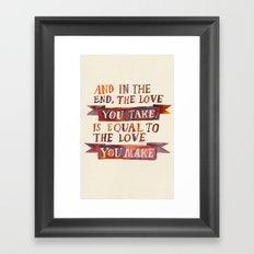 In The End Framed Art Print