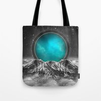 stargate Tote Bags featuring Fade Away (Lunar Eclipse) by soaring anchor designs
