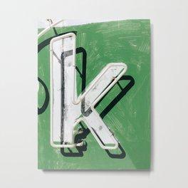 "Letter ""K"" Metal Print"