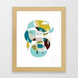 Moose on the loose Framed Art Print