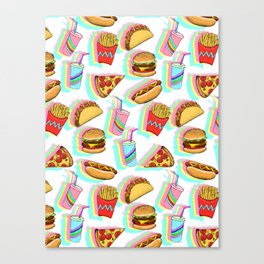 Rainbow Fast Food Canvas Print
