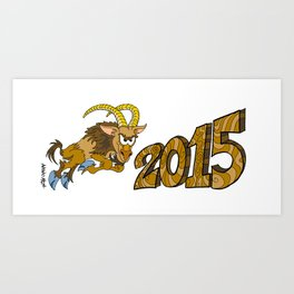 2015 Year of the Wooden Goat Art Print