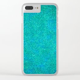 Mermaid Glitter Clear iPhone Case