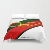 ronaldo Duvet Covers featuring 0003 - CR7 by FIFAMATIC