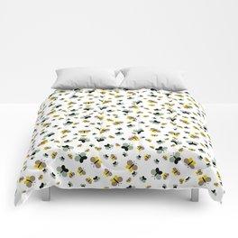Crisscross Butterflies V.03 - Porcelain White Color Comforters
