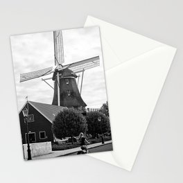 Amsterdam Windmill Girl Stationery Cards