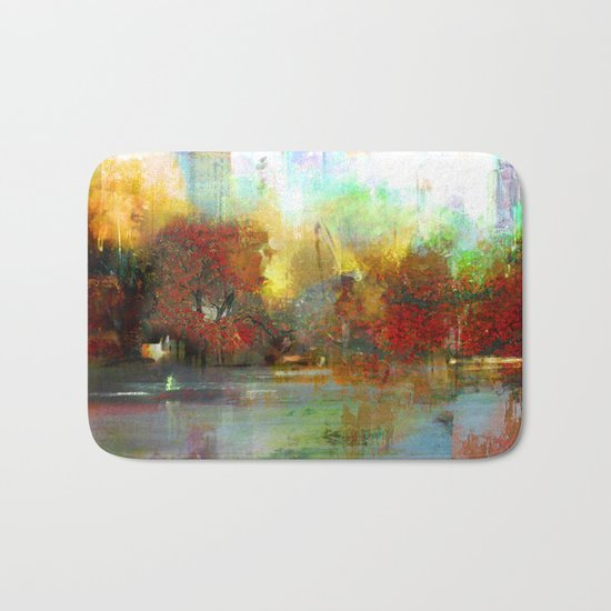Afternoon autumnal in Central Park Bath Mat