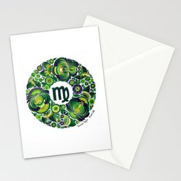 Virgo in Petrykivka style (with signature) Stationery Cards