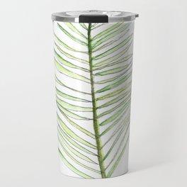 PALM ARECA - WHITE BACKGROUND Travel Mug