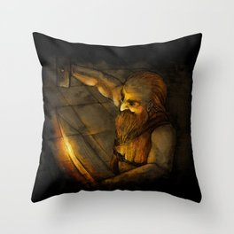 Dwarven Smith Throw Pillow