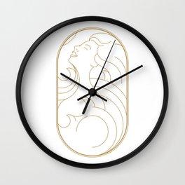 Girl Art Deco 03 Wall Clock