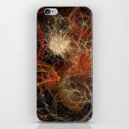 Red Space iPhone Skin