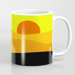 Tree in a yellow landscape Coffee Mug