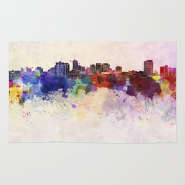 London ON skyline in watercolor background Rug