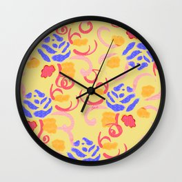 zakiaz summer roses Wall Clock