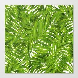 Tropical Palms Pattern Canvas Print