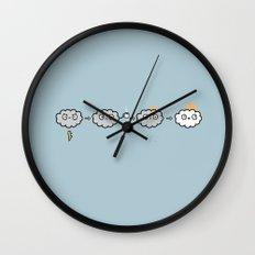 Cloudy Mornings Wall Clock