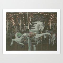 Merry-Go-Round Art Print