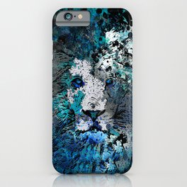 LION PRIDE ABSTRACT INK SPLASH PORTRAIT iPhone Case