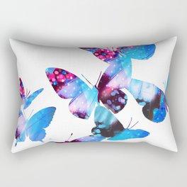 Electric Blue Butterflies Rectangular Pillow