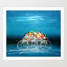 Bicycle Races Art Print