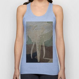 Elephant in the Jungle Camouflage Unisex Tank Top