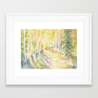 forrest Framed Art Prints featuring Forrest by Susie McColgan