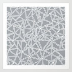 Abstract New Grey Art Print